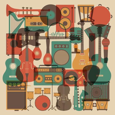 alle muziek instrument vector