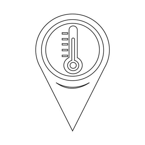 Kartenzeiger-Thermometer-Symbol