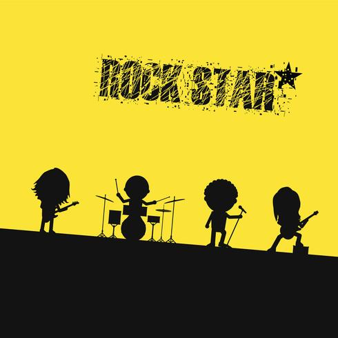 silhouette rock band vector