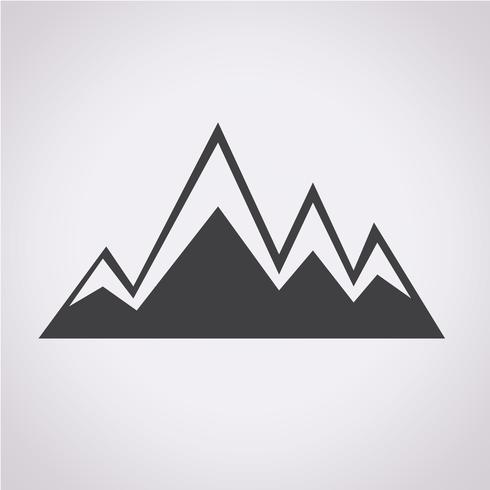 mountains icon  symbol sign vector