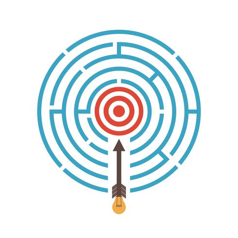 Ziel im Labyrinth