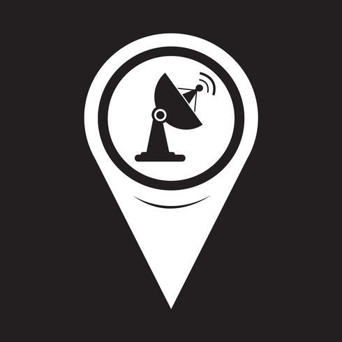 Kaartaanwijzer satellietschotel pictogram