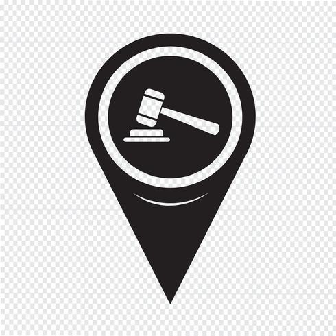 Mapa puntero icono de mazo
