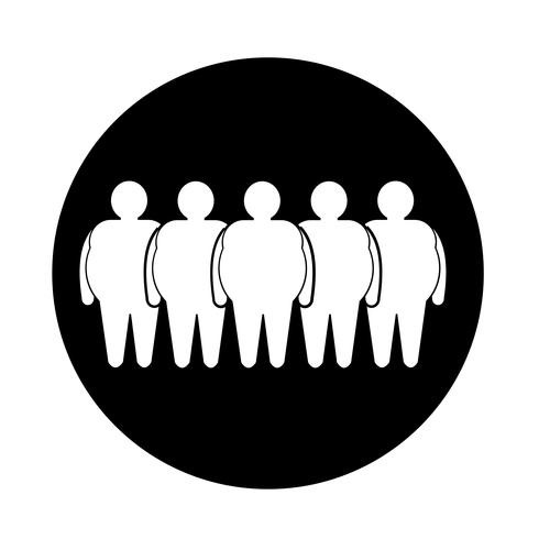 Fette Leute-Ikone
