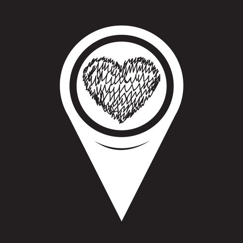 Map Pointer Heart Icon