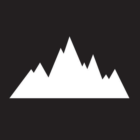 icono de montañas símbolo signo vector