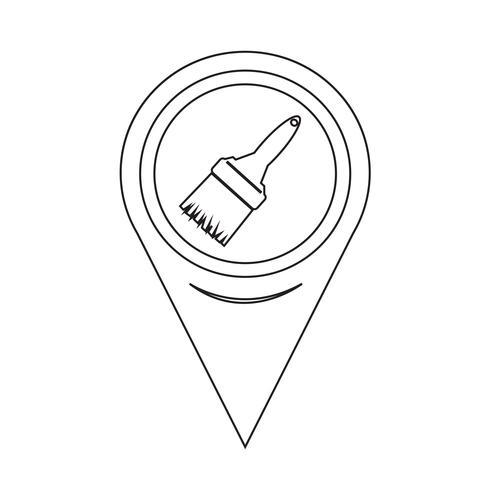 Icona del pennello puntatore della mappa