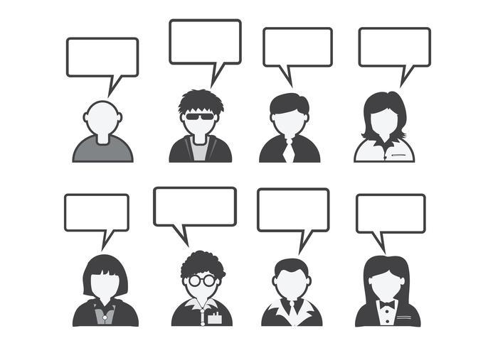 Ícone de pessoas e povos falando de bolha do discurso