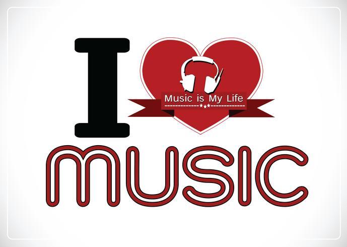 amo Music and Music is My Life tipo di carattere parola con segni idea design
