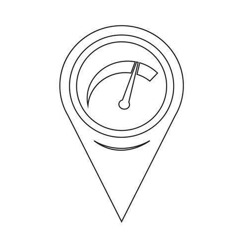 Kartenzeiger Auto Meter-Symbol vektor