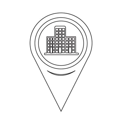 Icona della costruzione del puntatore della mappa