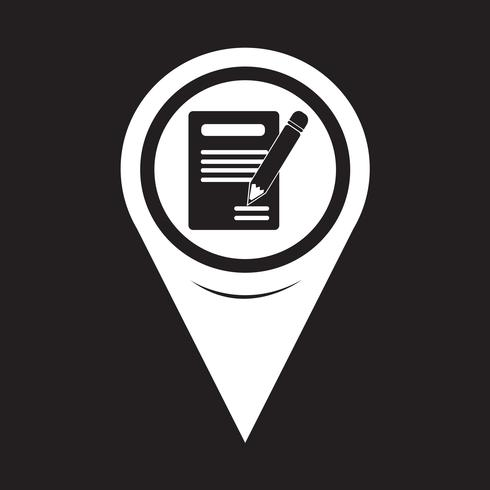 Map Pointer Pencil Icon E ícone Do Caderno