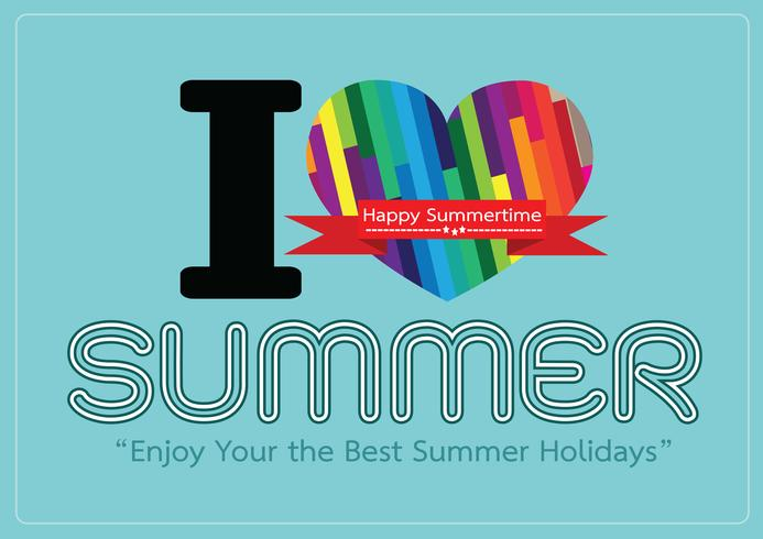 Amo la scheda di progettazione dell'idea di concetto di estate
