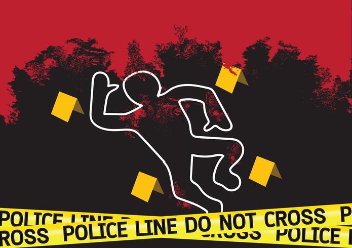 Illustration de bandes de crime scène danger