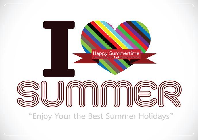 Ich liebe Sommerkonzeptideen-Designkarte