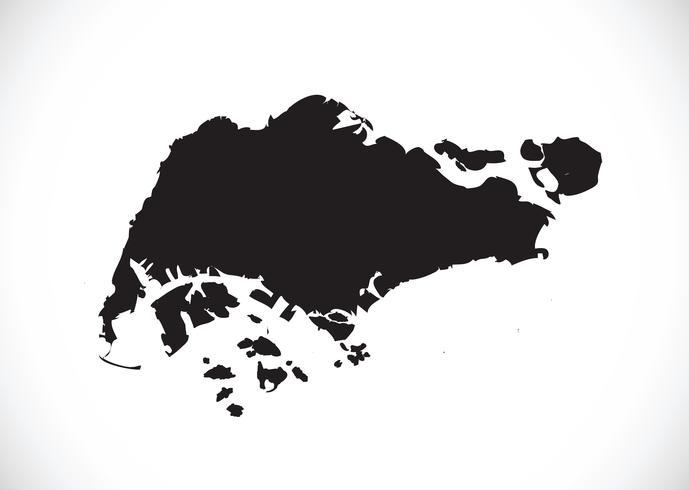 Carte de Singapour symbole signe
