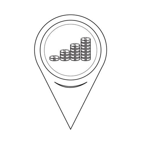 Map Pin Pointer Money icon