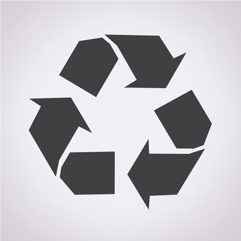 Recycler le symbole symbole vecteur