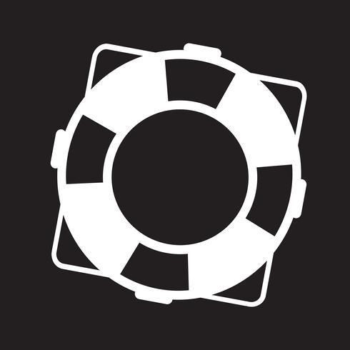 icono de salvavidas símbolo de signo