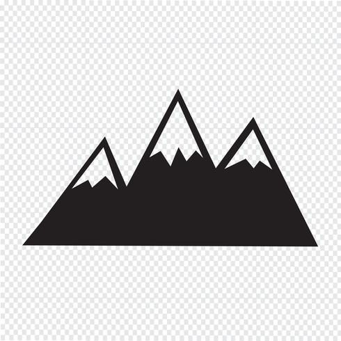 Mountains Icon symbol sign - Download Free Vector Art, Stock