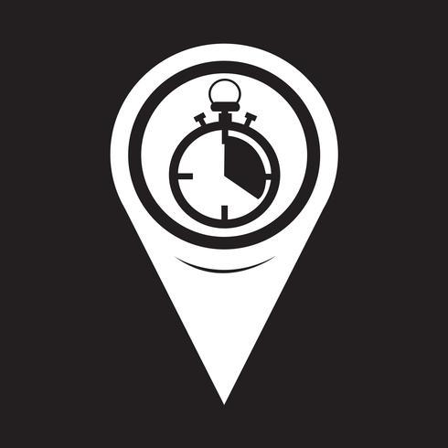 Icona del cronometro puntatore della mappa