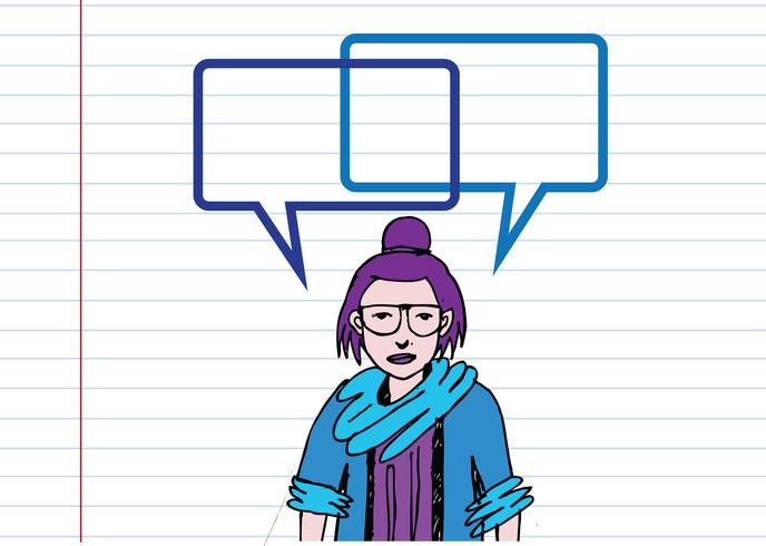 La gente piensa y habla con burbujas de diálogo.