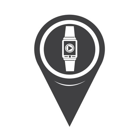 Icône de pointeur de carte Smartwatch Wearable