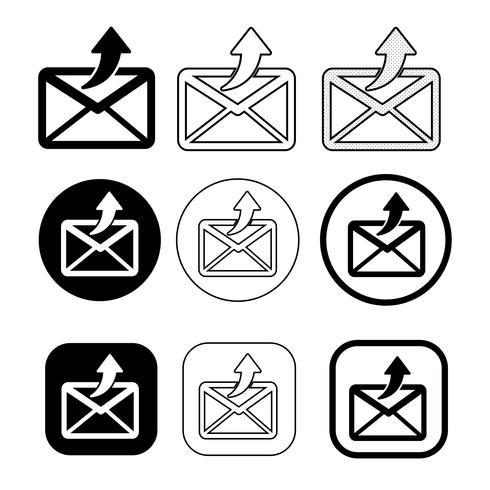 Satz von einfachen Zeichen E-Mail-Symbol Mail-Symbol