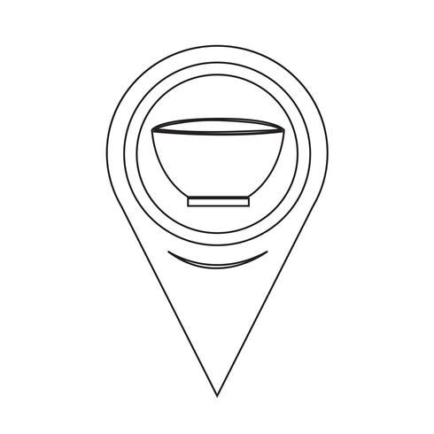 Icona Ciotola Puntatore Mappa