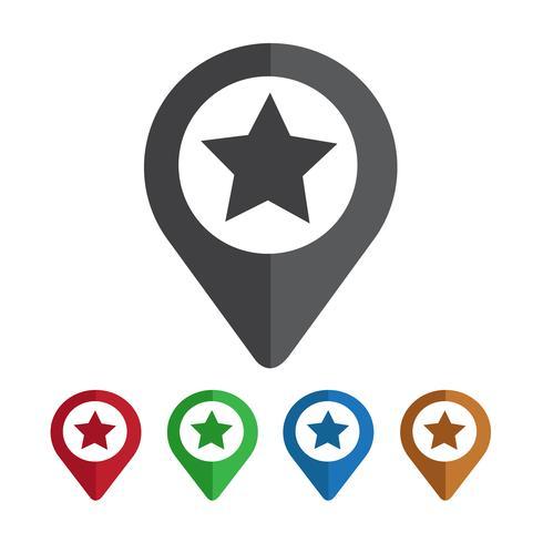 Map Pointer Star-ikonen