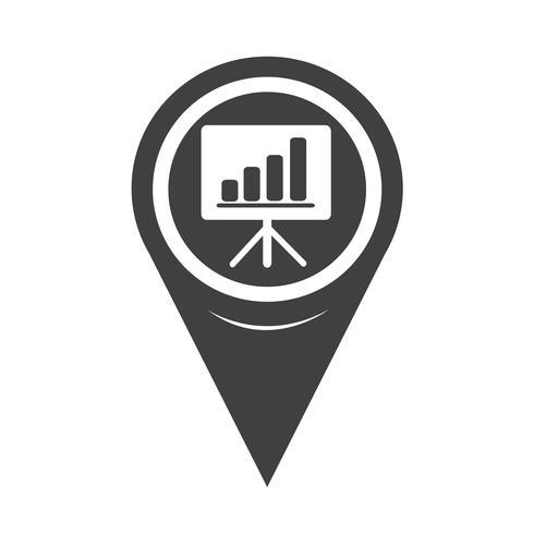 Map Pointer Presentation Board Icon