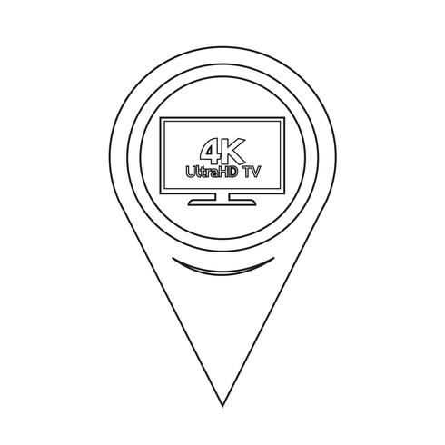Icône de pointeur de carte HD TV