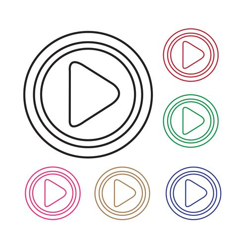 Knop pictogram spelen