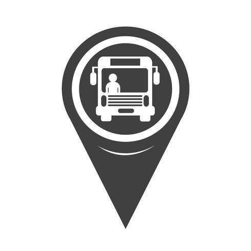 Kartenzeiger-Bus-Symbol