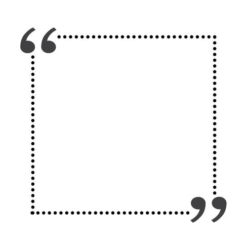 Quote bubble blank