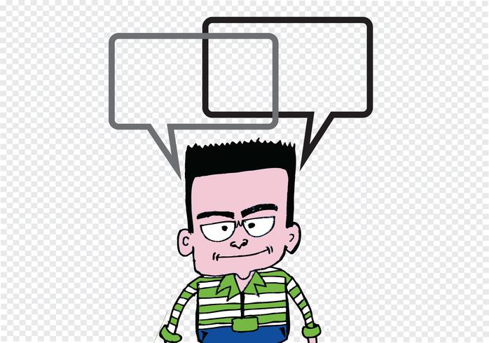 Folk som tänker och människor som pratar med dialogbubblor