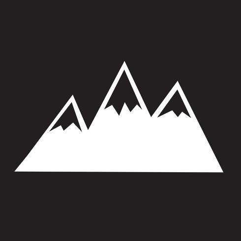 Segno di simbolo dell'icona delle montagne
