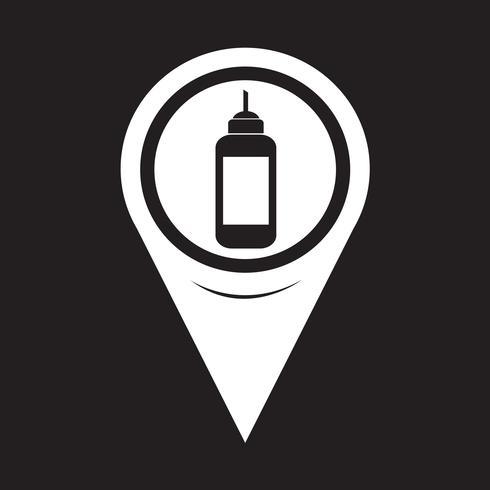 Carte Pointeur Ketchup Icône