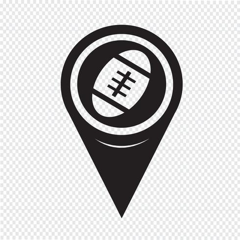Kartenzeiger American Football-Symbol