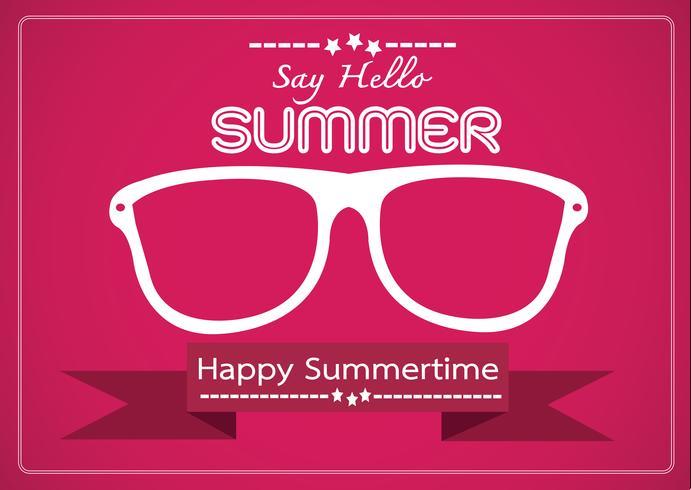 Tarjeta de diseño de idea de concepto de verano
