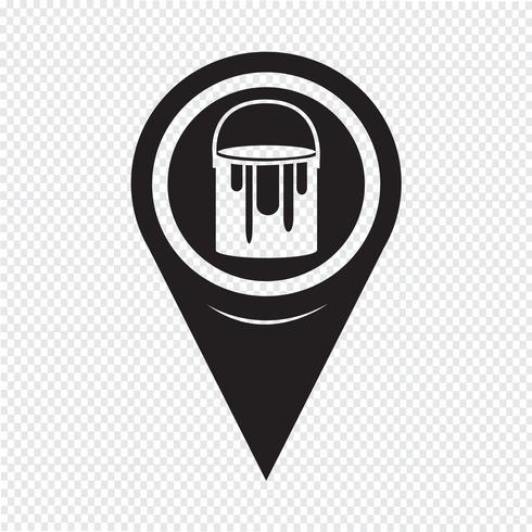 Mapa puntero pintura puede icono