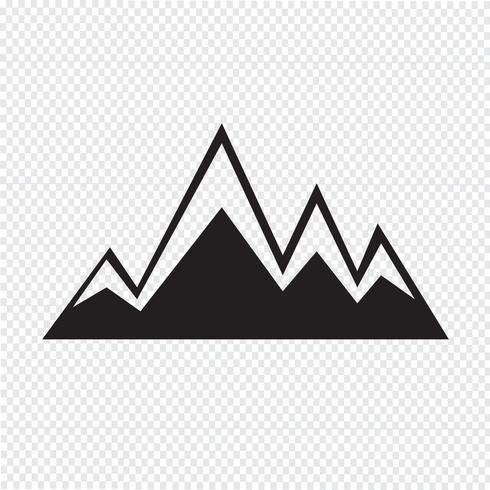 mountains icon  symbol sign