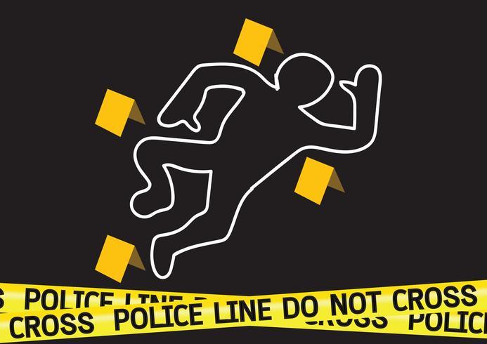 Illustration för fara för brottsplatsfara vektor