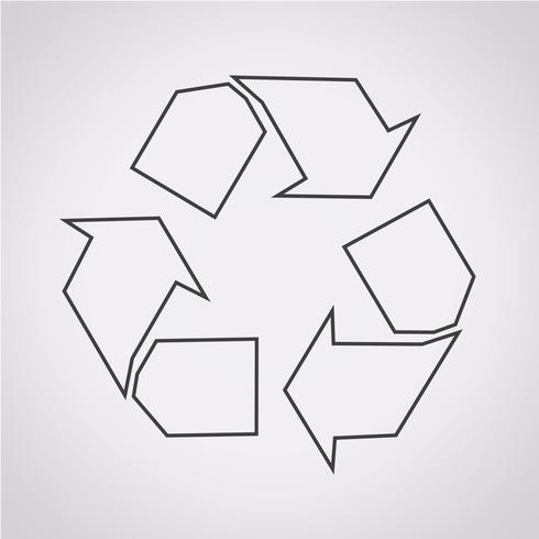 Återvinn ikon symboltecken