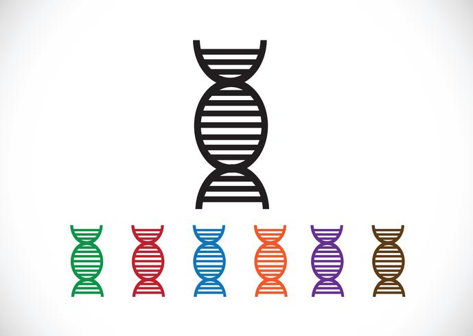 Icône de synnol signe ADN vecteur