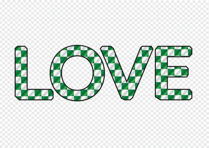 Tipo de letra LOVE para la tarjeta del día de San Valentín