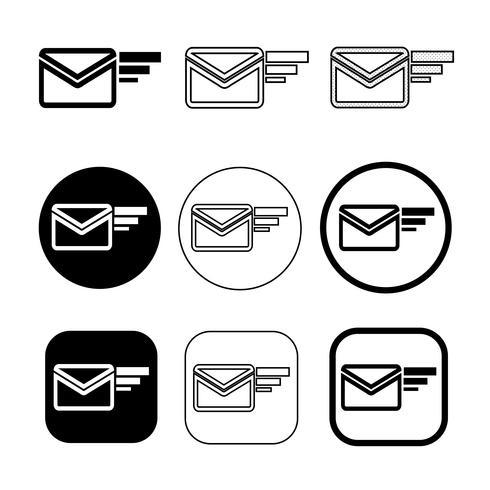 conjunto de símbolo de e-mail simples símbolo de correio de e-mail