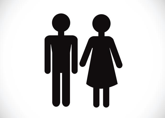 Frau und mann symbol