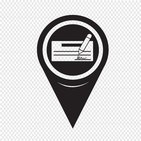 Map Pointer cheque icon