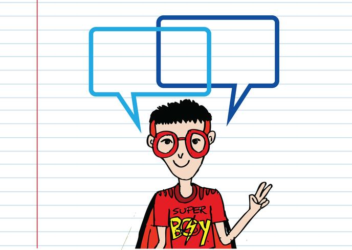 Pessoas a pensar e os povos falando com bolhas do discurso de diálogo